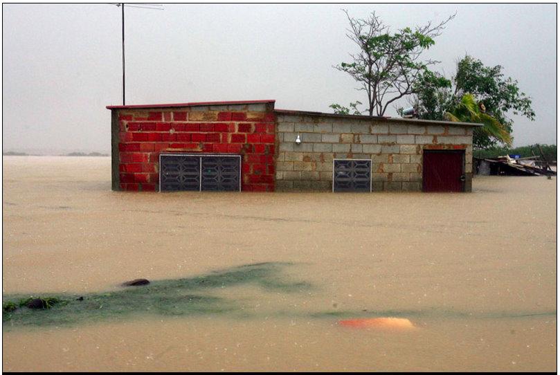 Flooded house in Falcón