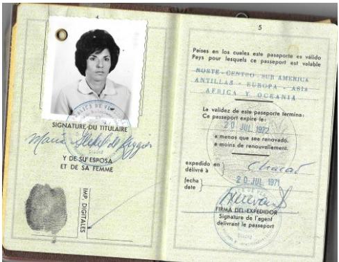 Maria's Venezuelan Passport